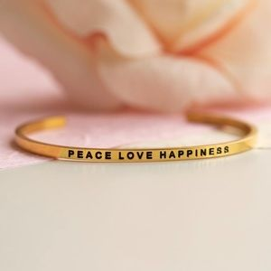 'Peace Love & Happiness Gold / Silver Bracelet